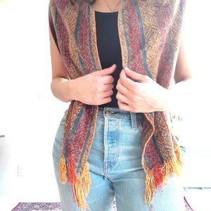 3/$20 Woven Knit Scarf with fringe